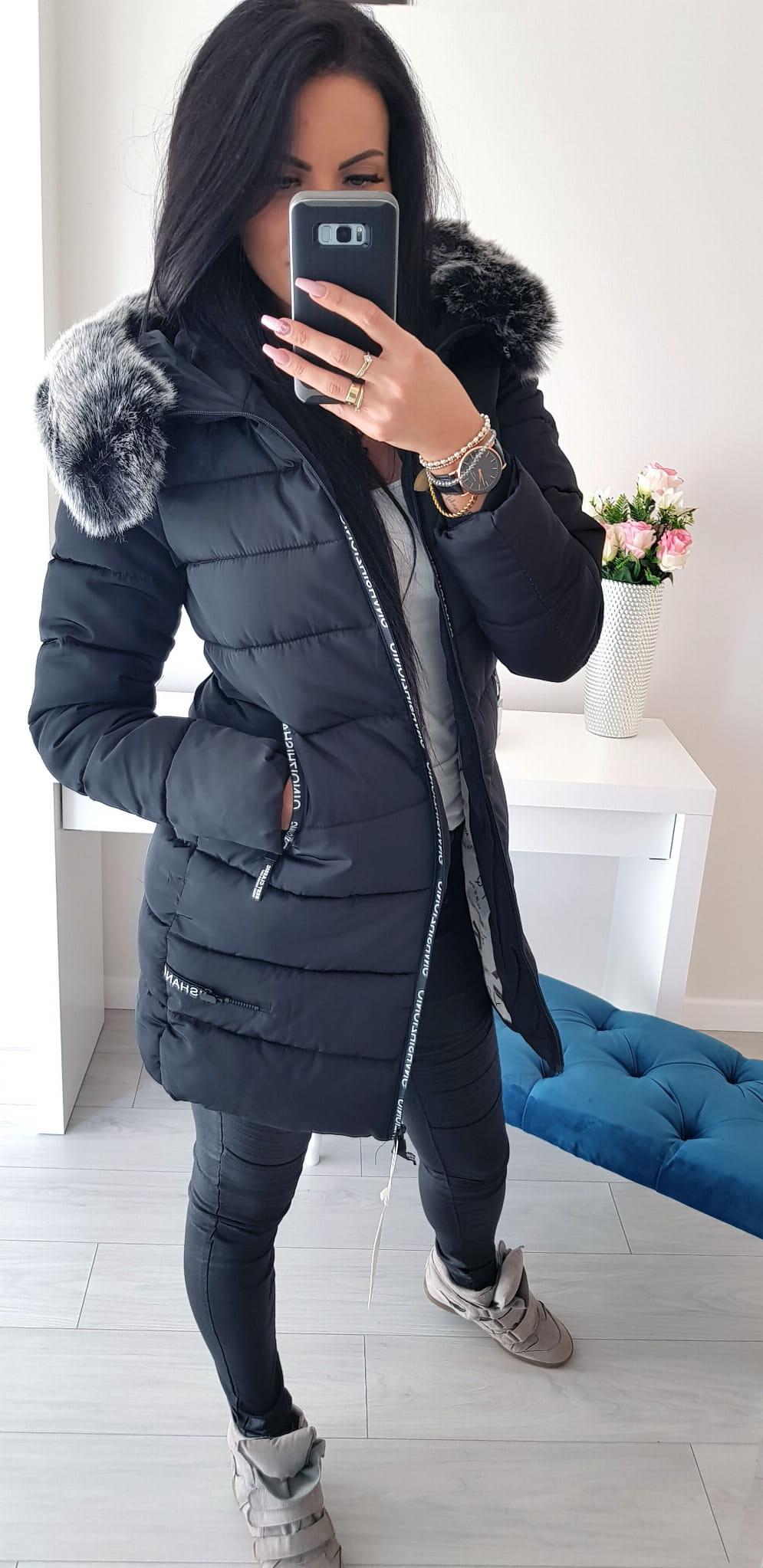 Kurtka Płaszcz Outfit Black Andżela Sklep Online